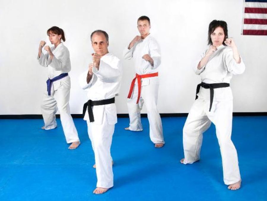 Adult self-defense karate jujitsu classes