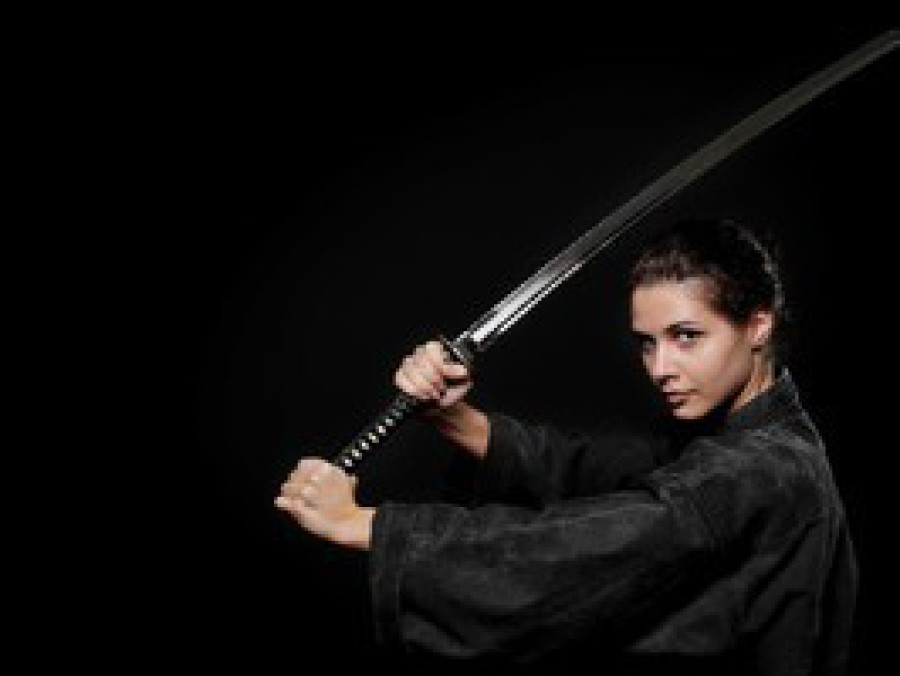 Learn traditional weapon katas